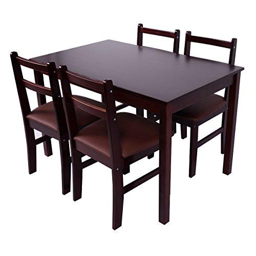 Giantex Upholstered Breakfast Furniture Reddish