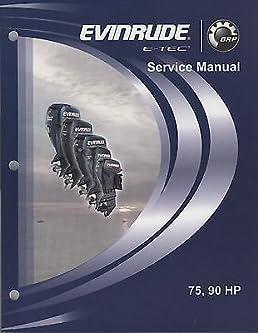 2008 evinrude e tec outboard 75 90 hp service manual 5007527 566 rh amazon com evinrude etec manual trim evinrude etec manual download