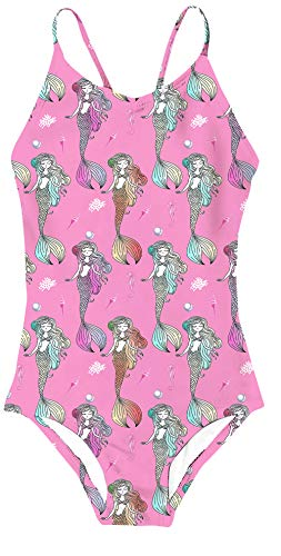 AIDEAONE One Piece Swimsuit for Little Girls Mermaid Princess Bathing Suits Swimwear for Kids -