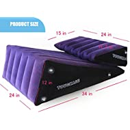 Toys Shop PF3203 Inflate Large Wedge Pillow and Small Ramp Pillow Contoured Support Sex Pillows