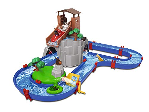 BIG Spielwarenfabrik 8700001647 Adventureland-Waterway with Mountain, Tower and Reservoir, Multicoloured