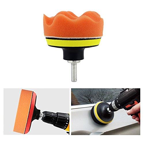 Coceca 26PCS 3 Inch Car Foam Drill Polishing Pads, Buffing Sponge Pads Kit for Car Sanding, Polishing, Waxing,Sealing Glaze by Coceca (Image #5)