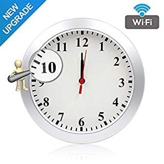 Newwings 1080P WiFi Camera Wall Clock Hidden Nanny Cam with Motion Detection, Indoor Security Camera for Home and Office, No Night Vision