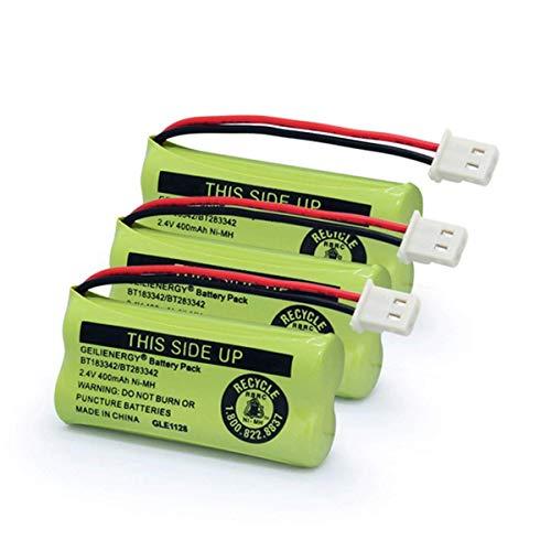 GLESOURCE BT183342 BT283342 BT166342 BT162342 BT262342 Battery Compatible with AT&T VTech CS6114 CS6419 CS6719 CS6709 CS6609 CS6509 CS6409 EL52100 EL50003 EL52300 CL80112 Cordless Handset(3 Pack -  GS0342