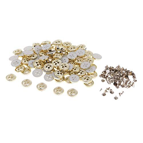 100x Plastic Snap Fasteners Popper Press Stud Buttons Leather Clothes Jacket (Color - Gold)
