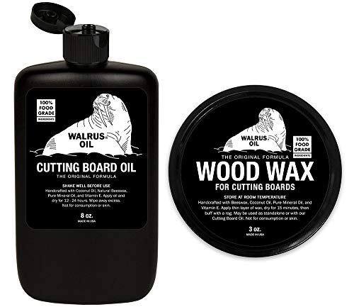 WALRUS OIL - Cutting Board Oil and Wood Wax Set. for Cutting Boards, Butcher Blocks, and Counters. 100% Food-Safe by Walrus Oil (Image #3)