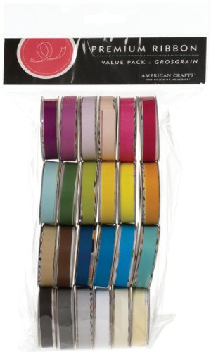 Solid Grosgrain Premium Ribbon Spools - 24 Pack 1 pcs SKU# 1077147MA