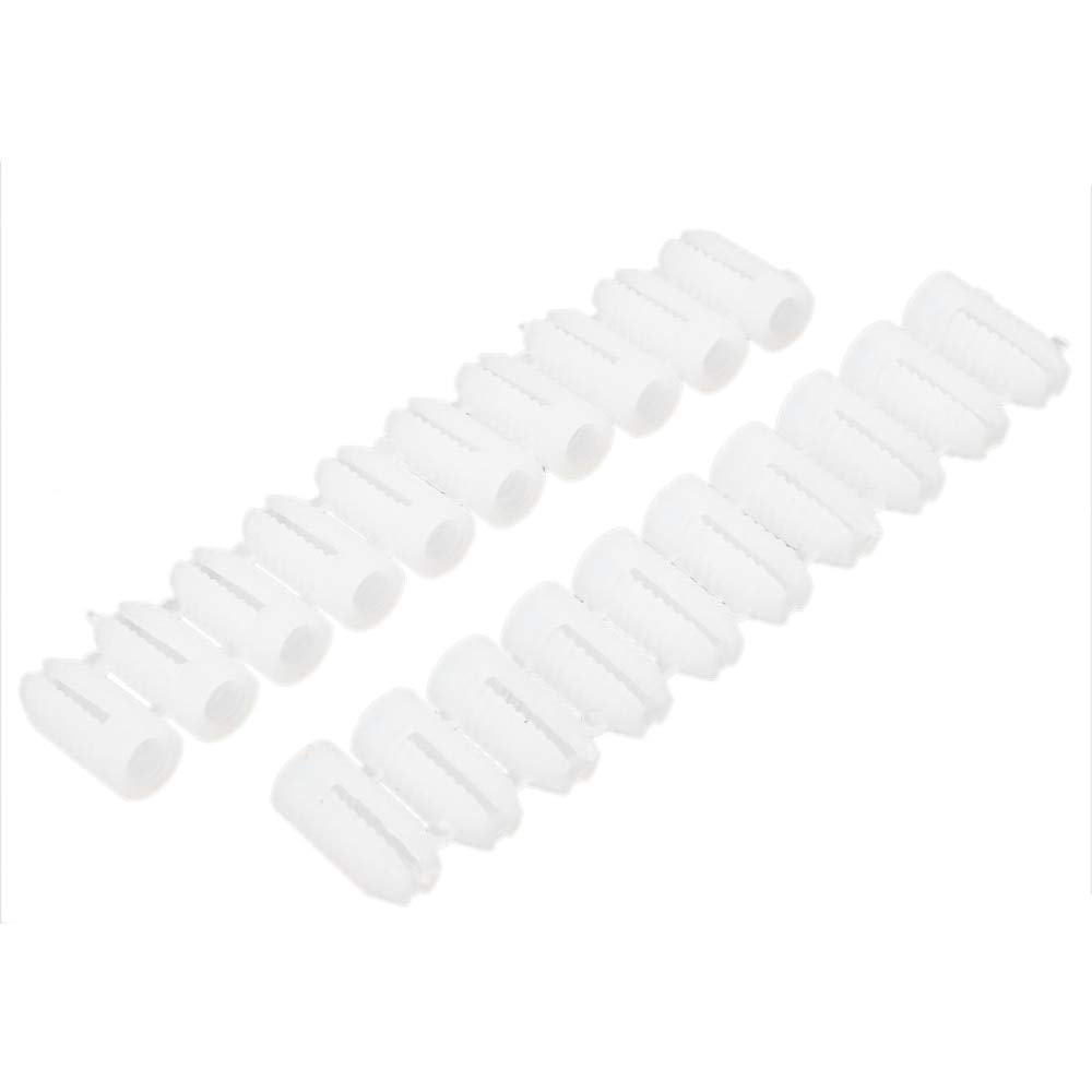Ochoos 20 Pcs/Pack White Plastic 5x12mm Wall Expansion Bolt Anchor Drywall Screw for Screw Dia 5mm / 0.2'' Anchor Bolt