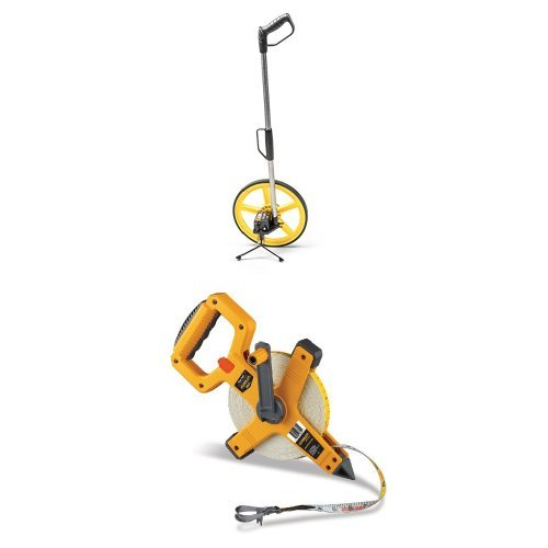 TR Industrial 88016 FX Series Collapsible Measuring Wheel with Komelon 6622 Open Reel Fiberglass Tape Measure, 200-Feet