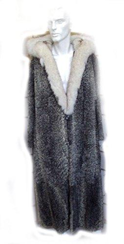 OLIVERFURS NEW REFURBISHED GREY GRAY PERSIAN LAMB ASTRAKHAN & NORWEGIAN FOX FUR COAT JACKET MAN MEN SIZE (Persian Lamb Fur Coat Jacket)
