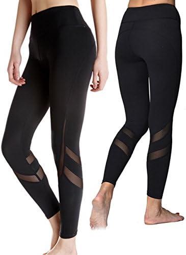 KIWI RATA Women Sports Mesh Trouser Gym Workout Fitness Capris Yoga Pant Legging