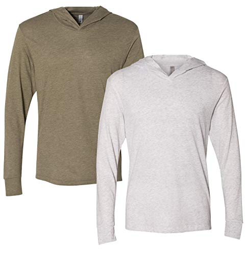 Next Level Apparel Men's Tri-Blend Long-Sleeve Hoodie from Next Level