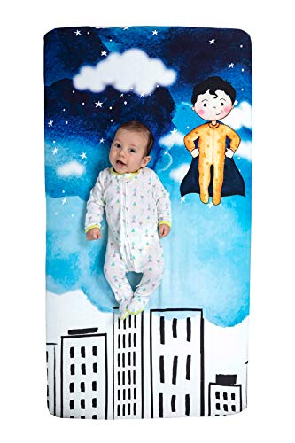 Little Heroes Shop Baby Superhero Fitted Crib Sheet (Sebastian)