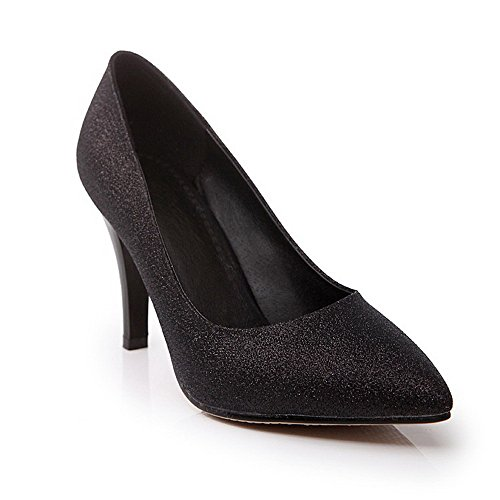MayMeenth Women's Pull On Spikes-Stilettos Blend Materials Pointed Closed Toe Pumps-Shoes