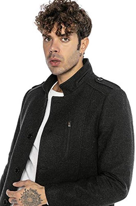 Redbridge Męska kurtka płaszcz ze stÓjką, elegancki i casualowy: Odzież