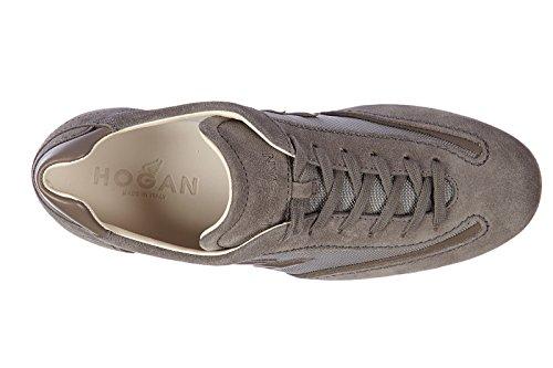 Hogan zapatos zapatillas de deporte hombres en ante nuevo olympia slash h3d gris