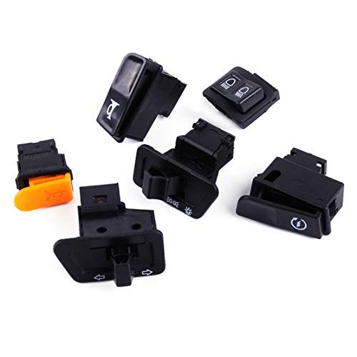 Motorbike 6pcs Set Turn Signal Headlight Ignition Start Switch Dimmer Horn Button fit for GY6 Scooter ()