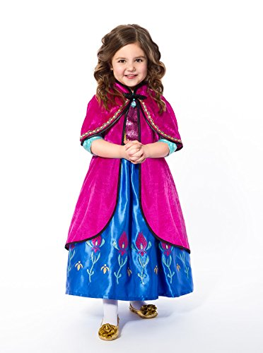 Frozen Costume S (Little Adventures Scandinavian Princess Cloak Girls Costume - S/M (1-5 Yrs))