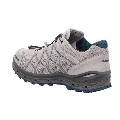 Iowa Vrouwen Aerox Gtx Lo Ws Trekking & Wandelschoenen, Zwart / Ijsblauw, 4,5 Uk Grijs / Blauw