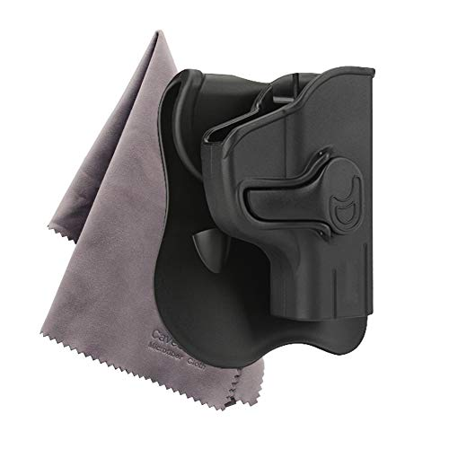 Ruger LC9 Paddle Holster, Custom Molded Belt Holster Outside the Waistband Fit LC380 LC9 LC9s, Black Finish, RH -Microfiber Cloth Included