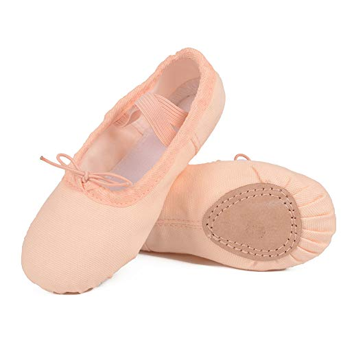 Ballet Shoes for Girls/Toddlers/Kids, Black Canvas Ballet Shoes/Pink Ballet Slippers/Dance Shoes