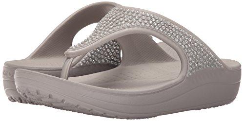 920cdc414ec66 Crocs Sloane Diamante Flip W - sandalias con plataforma y cuña Mujer ...