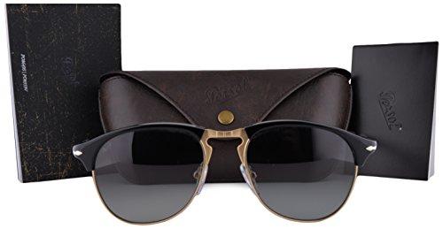 Persol Sunglasses PO8649S Black w/Gray Gradient Lens 56mm 9571 PO - Po8649s