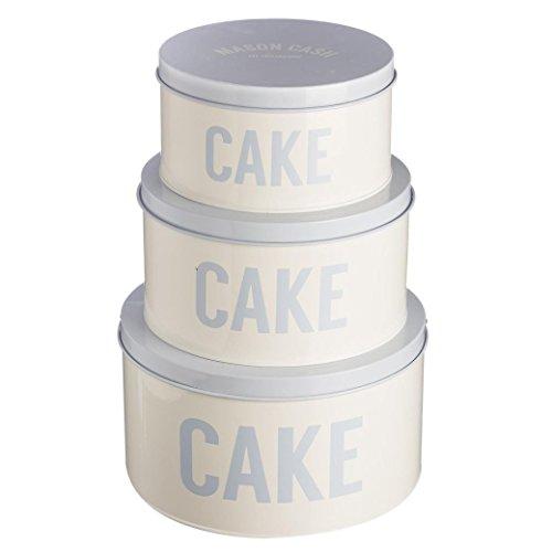 Mason Cash Bakewell Cake Tins, Set of 3, Cream, Blue