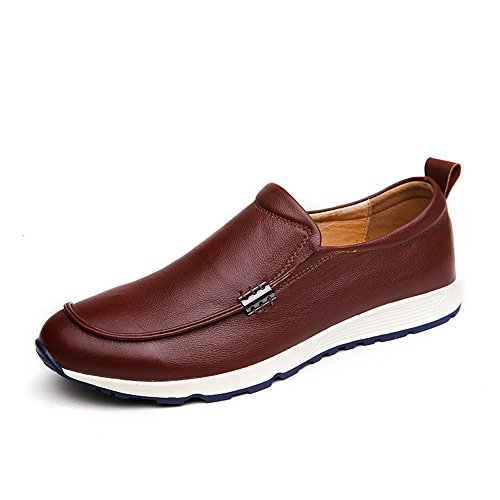 da Color pelle EU Suola Shufang Mocassini Casual Dimensione on da barca guida shoes Rubber Slip uomo Vamp Foderata Bare da Uomo Soft eleganti Mocassini Mocassini 2018 in 38 Scarpe Da Marrone Nero wx84qAFw