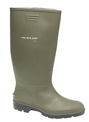 impermeables PVC Slip mujer Wellies Wellington para Dunlop botas Pricemaster verde qUHBnfx