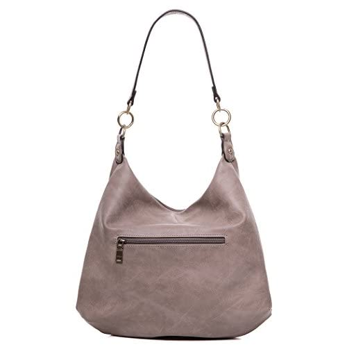 AMELIE GALANTI Women's Top Handle Handbags Shoulder HoboTote Purse (Grey)