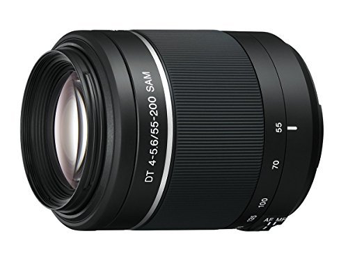 Sony 55-200mm f/4-5.6 SAM DT Telephoto Zoom Lens for Sony Alpha Digital SLR Cameras (Certified Refurbished)
