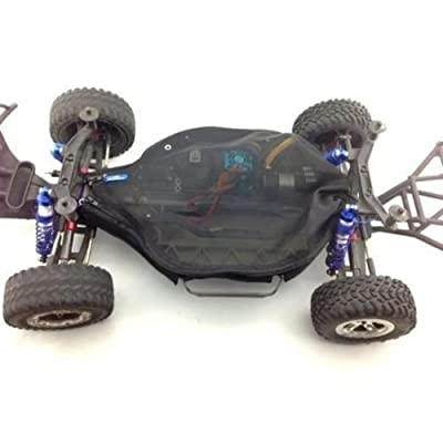 CrazyRacer Dustproof Rock Snow Dirt Resist Guard Chassis Cover-1SET Black for Traxxas Slash 4X4 (Non-LCG): Toys & Games