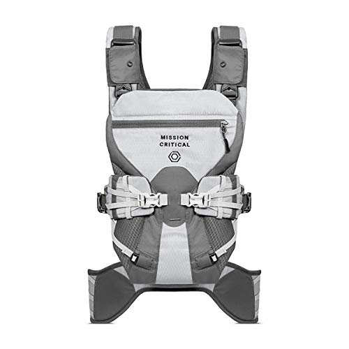 Mission Critical Baby Carrier - System 02 - Baby Carrier for Men - Front & Back Carrier (Titanium)