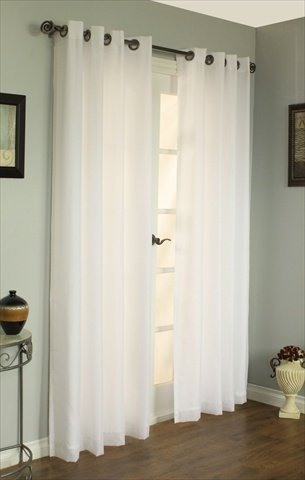Commonwealth Home Fashions 70490-109-008-84 Thermavoile Rhapsody Lined Grommet Panel 5 4 x 84 in., Ivory