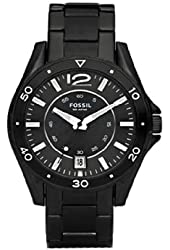 Fossil Men's AM4302 Black Stainless Steel Bracelet Black Analog Dial Watch