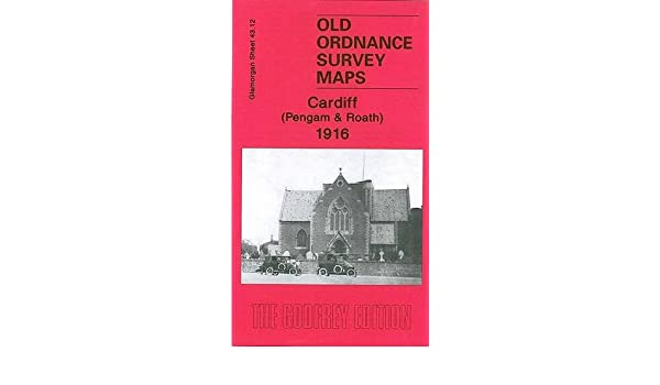 Old Ordnance Survey Maps Cardiff Pengam /& Roath Glamorgan 1916 Godfrey Edition