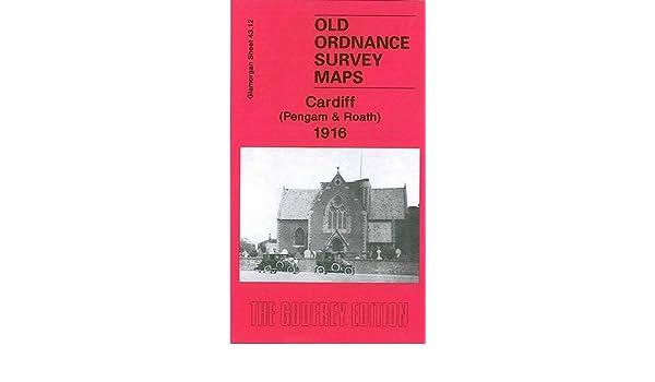 Old Ordnance Survey Maps Cardiff Pengam /& Roath Glamorgan 1916 Godfrey Edition