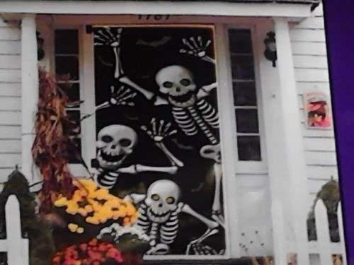 Grenbrier  Halloween Door Cover Skeletons