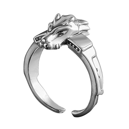 Anime Digimon Adventure Tri MetalGarurumon 925 Sterling Silver Ring Gift (Silver)]()