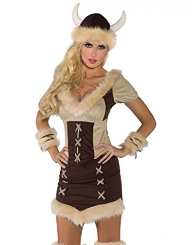 Underwraps Costumes Women's Viking Queen Costume, Brown/Tan, X-Small ()
