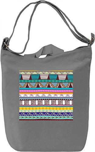 Folk Motifs Texture Borsa Giornaliera Canvas Canvas Day Bag  100% Premium Cotton Canvas  DTG Printing 