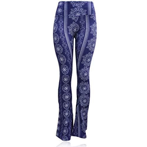 Vithconl Cloths Women's Bootleg Yoga Pants, High Waist Tummy Control Workout Yoga Capri Pant Blue (Best Tennis Shoes For Insanity Workout)