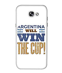 ColorKing Football Argentina 22 White shell case cover for Samsung A3 2017