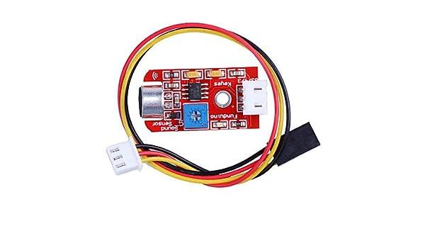 para Arduino Kits, Detector Sensor de Intensidad de Sonido Sound Módulo para SMC Desarrollo de Red para Arduino.: Amazon.es: Electrónica