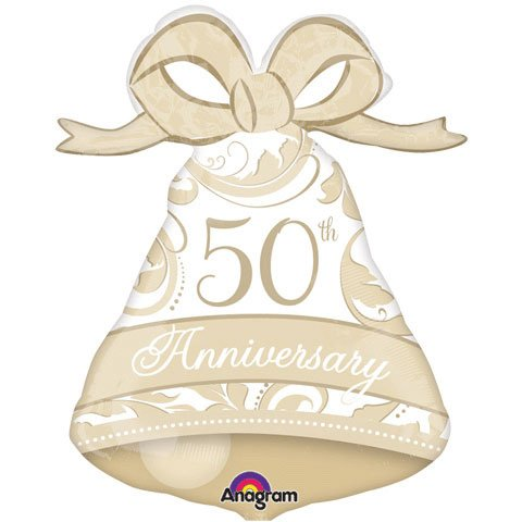 Anagram International 50th Anniversary Bell Shape Balloon, 27