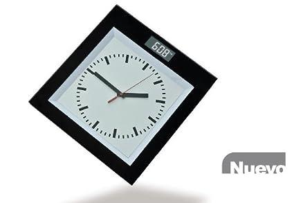 Báscula de Baño Digital + Reloj Analógico