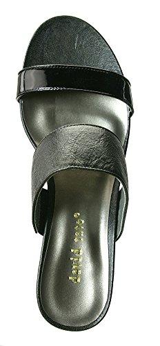 David Tate Charlotte Mujeres Sandals Black Vintage Cabra