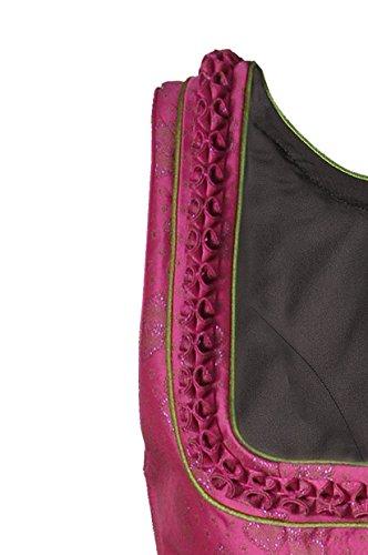 Dirndl midi 70 cm Theresa magenta/pink/schwarz Trachten Deiser Turi Landhaus
