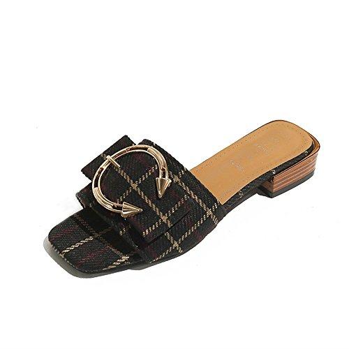 tacón de zapatillas zapatillas Cool ocio comodidad black señora de bajo de Pqq0xw